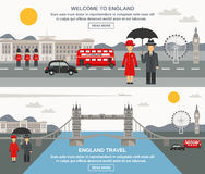 Englad Culture 2 Flat Banners Set Royalty Free Stock Image