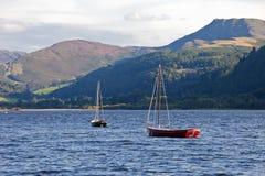 england łódkowaty gromadzki jezioro Zdjęcie Royalty Free