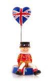 England. Souvenir with guard from London and Union Jack Royalty Free Stock Photos