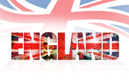 England. Word with texture and effect stock illustration