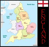 England Administrative divisions Stock Images