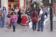 ENGLAND_ARAB商业区 免版税图库摄影