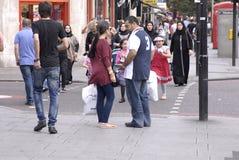 ENGLAND_ARAB-AFFÄRSOMRÅDE Fotografering för Bildbyråer