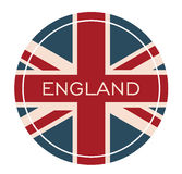 England Badge -. I Love UK Badge Card Isolated Vector - Flag United Kingdom Illustration Royalty Free Stock Photography