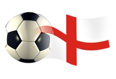 England ball flag. World cup illustration Stock Photos