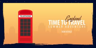 England banner. Time to Travel. Journey, trip and vacation. Vector flat illustration. England banner. Time to Travel. Journey, trip and vacation. Vector flat Royalty Free Stock Photo