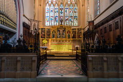 ENGLAND, BATH - 29 SEP 2015: St Mary The Virgin, Bathwick, Engli. Sh Church - Altar and Choir stock image