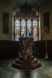 ENGLAND, BATH - 29 SEP 2015: St Mary The Virgin, Bathwick, Engli. Sh Church - Font Stock Images