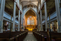 ENGLAND, BATH - 29 SEP 2015: St Mary The Virgin, Bathwick, Engli. Sh Church - Nave royalty free stock photos