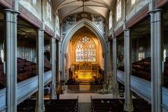 ENGLAND, BATH - 29 SEP 2015: St Mary The Virgin, Bathwick, Engli. Sh Church - Nave - top view Royalty Free Stock Photo