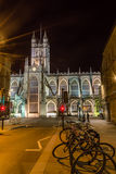 ENGLAND, BATH - 20 SEPTEMBER 2015: Bath Abbey by night E. Night photography Stock Images
