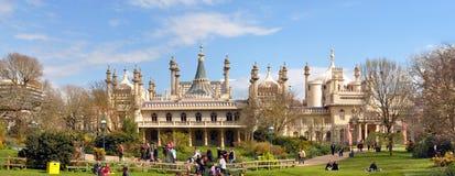 England - Brighton Pavilion Panorama Stock Image