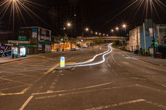 ENGLAND, BRISTOL - 21 APRIL 2015: Bristol Brislington, Bath Road. By night Royalty Free Stock Images