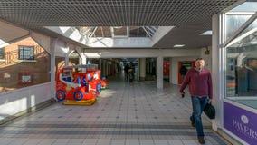 Entrance Corridor to Shopping Galleries. England, Bristol - November 6, 2017: Entrance Corridor to Shopping Galleries Royalty Free Stock Photo