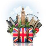England brittiska gränsmärken arkivfoton