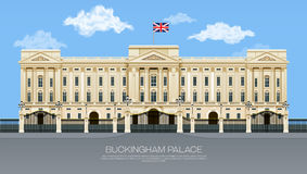 England buckingham palace. With cloud mesh gradient object vector illustration Royalty Free Stock Image