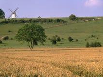 England, Buckinghamshire, windmill stock photo