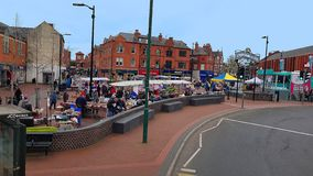 England, Bulwell Market, little town in Nottinghamshire royalty free stock image