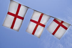 England bunting against the sun Royalty Free Stock Photo