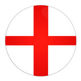 England button with flag. Abstract illustration: button with flag from England country Stock Photos