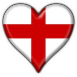 England button flag heart shape Stock Images