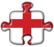 England button flag puzzle shape Stock Photography