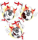 England cartoon ball Royalty Free Stock Photography