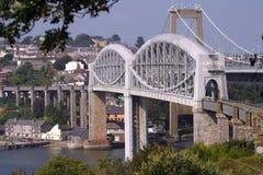 Cornwall, Brunels rail bridge stock photos