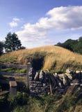 Scenic Cotswolds - Belas Knap. England, Cotswolds, Gloucestershire, ancient Belas Knap long barrow near Winchcombe Stock Images