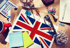 England Country Flag Nationality Culture Liberty Concept.  Royalty Free Stock Photo