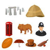 England country set icons in cartoon style. Big collection of England country vector symbol stock illustration Royalty Free Stock Photo