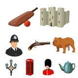 England country set icons in cartoon style. Big collection of England country vector symbol stock illustration Stock Photo