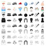 England country set icons in cartoon style. Big collection of England country vector symbol stock illustration. England country set icons in cartoon style. Big Royalty Free Stock Image
