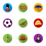 England country set icons in flat style. Big collection of England country vector symbol stock illustration. England country set icons in flat design. Big Royalty Free Stock Images