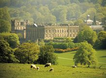 England derbyshire chatsworth house Stock Photography