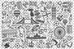 England doodle set