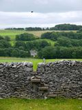 England: drystone wall with stile royalty free stock photography