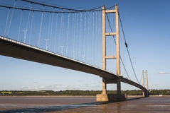 England. East Yorkshire. 2010. The Humber Bridge Stock Photography