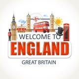 England emblem lettering sights symbols culture landmark royalty free illustration