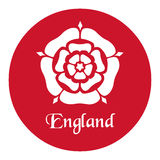 England emblem with the Tudor Rose on red.  Royalty Free Stock Photo