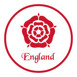 England emblem with the Tudor Rose on white.  vector illustration