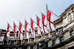 England2016. Engalnd flags and the sky Stock Image