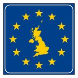 England European road sign Royalty Free Stock Photography