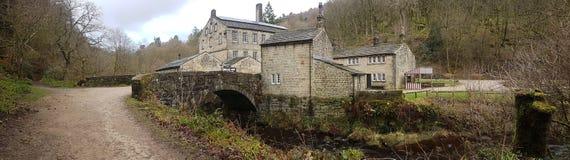 England Förenade kungariket Yorkshire Hardcastle brant klippaHebden turist- dragning royaltyfri fotografi