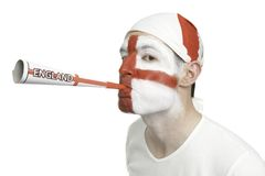 England Fan Blowing A Horn Stock Photography