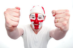 England Fan Cheering Royalty Free Stock Image