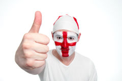 England Fan Doing Thumbs Up Royalty Free Stock Photos