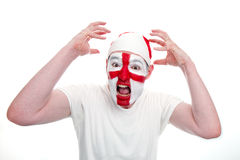 England Fan Looking Shocked Royalty Free Stock Photo