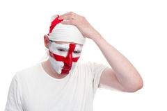 England Fan Looking Upset Stock Image