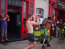 England fans dancing in Marseille Stock Images